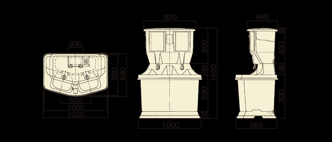 ユニット型手洗い図面