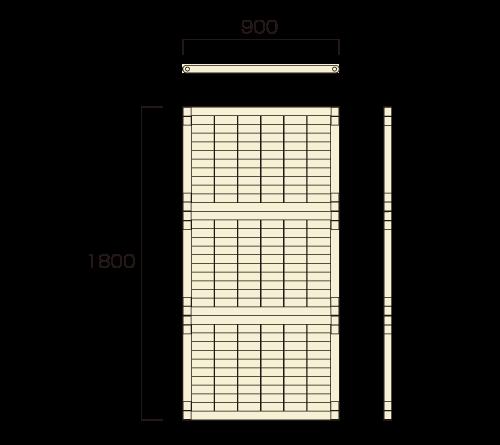 三段積パネルセット(900タイプ)図面